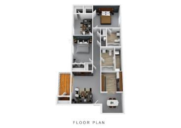 Floor Plan Two Bedroom Two Bath W/ Den