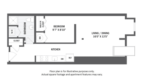 Floor Plan  A1L floor plan at Jack Flats by Windsor, 1000 Stone Place, 02176