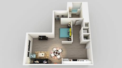 Floor Plan  Studio Floor Plan at Edison on the Charles by Windsor, Massachusetts, 02453