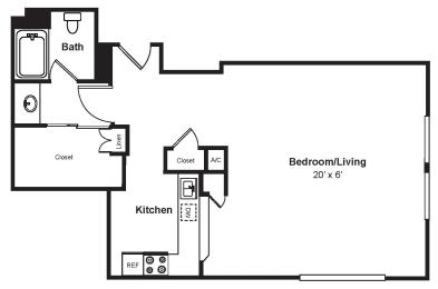 Floor Plan  S9_Dimension_V3 floor plan at Renaissance Tower, Los Angeles, California