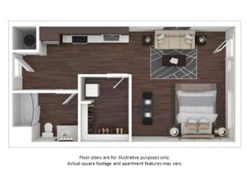 Floor Plan  S1 3D disclaimer floor plan at The Casey, 2100 Delgany, 80202