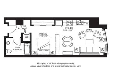 Floor Plan  S1 North New at The Bravern, 688 110th Ave NE, 98004