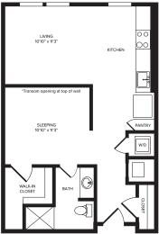 Floor Plan  S3(1) floor plan at Windsor Turtle Creek, TX, 75219