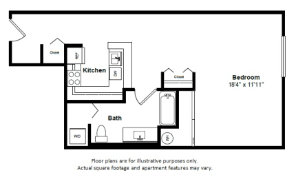 Floor Plan  Santo Domingo floor plan at Tera Apartments, Washington, 98033