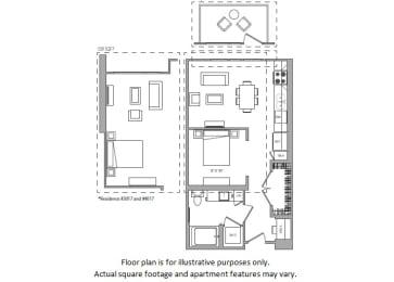 Floor Plan  Studio B floor plan at Cannery Park by Windsor, San Jose, California