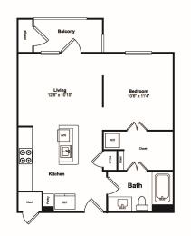 Floor Plan  0 Bed 1 Bath Floor Plan at Windsor Castle Hills, Carrollton, 75010