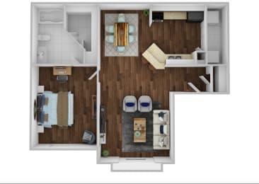 Floor Plan 1BR 1BA