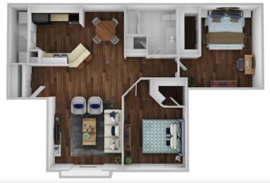 Floor Plan 2BR 1BA