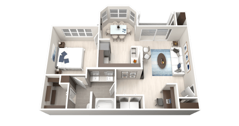 A3 Floor Plan at Ethos Apartments, Texas