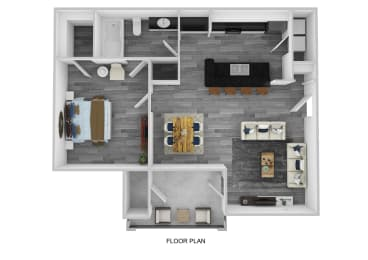 The Kent Floor Plan at Lakeside at Town Center, Marietta, GA