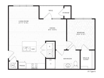 A1A Floor Plan at The Darby, Holly Springs, Georgia