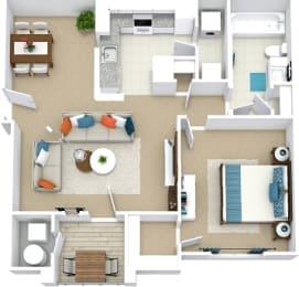 1 bedroom floor plan Bridle Creek Virginia Beach Apartments