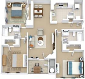 3 bedroom floor plan bridle creek Virginia Beach Apartments