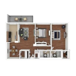 Colesville  Towers Apartments  2 bedroom floorplan 1188 sq ft