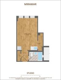 Studio Apartment Floor Plan 330 Sqft