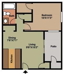 Asimina Floor Plan at Forest Cove, Georgia