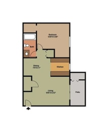 Birch Floor Plan at Forest Cove, Georgia, 30340