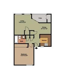 Cedar Floor Plan at Forest Cove, Doraville, GA, 30340