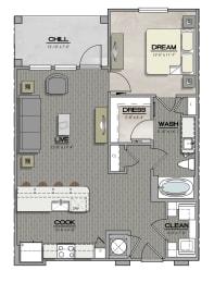 A3 Floorplan at Summerhouse Lakewood Ranch Apartments, Lakewood Ranch, FL, 34211
