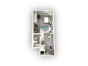 EOS Luna 1.1 Floorplan 1 Bed 1 Bath 515sqft