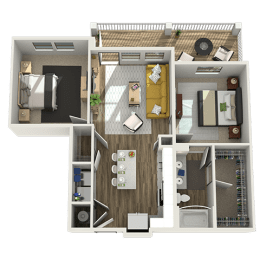 3D One Bedroom|One Bath 905 sf at The Westhouse, Fort Worth, TX  76244