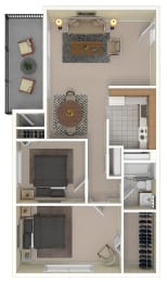 Floor Plan Two Bedroom - Income Restricted