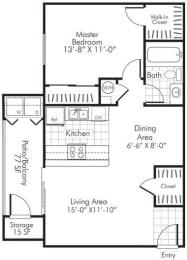1 Bedroom X 1 Bath - 740 Sq. Ft. Floor Plan - A2 - Renovated