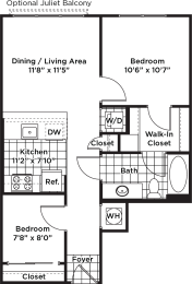 Floor plan layout of an apartment