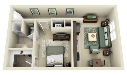 Floor Plan  A1 Floor Plan at Carolina Point Apartments, Greenville, SC
