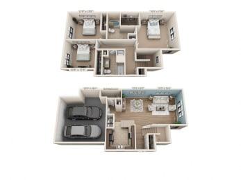 Floor Plan Chantey - Townhome