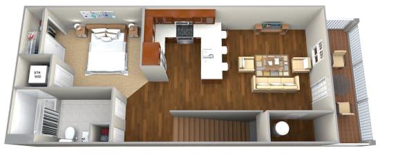 Floor Plan  Studio (587 sf) Floor Plan at Cedar Place Apartments, Wisconsin