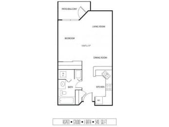Floor Plan  Regency Woods Apartments in Minnetonka, MN Studio