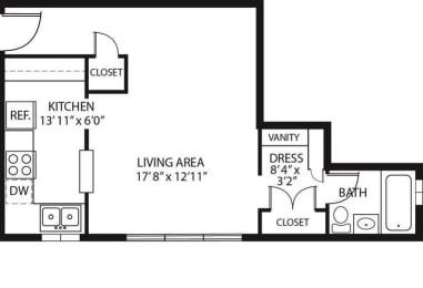 Floor Plan  Studio Floorplan (Power)