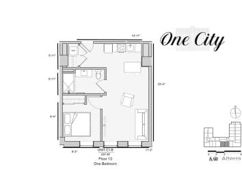Floor Plan Residence - C1.B