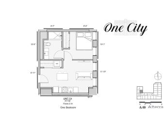 One City C4 Floor Plan