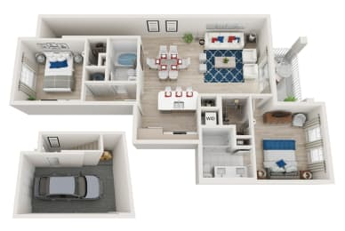 2 Bedroom 2 Bathroom with a Garage