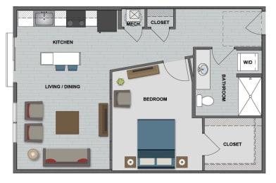 Bell Floor Plan at The Edison at Bridlespur, Kansas City, 64114