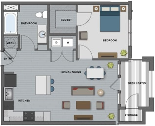 Bell Floor Plan at The Edison at Riverwood, Hermitage, TN
