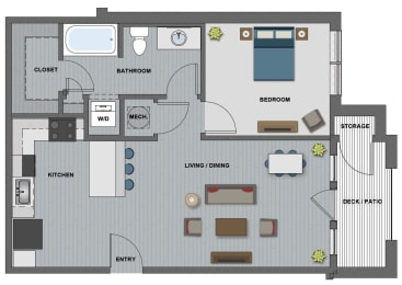 Eastman Floor Plan at The Edison at Riverwood, Hermitage