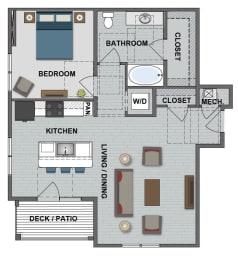Fuller Floor Plan at The Edison at Bridlespur, Missouri, 64114