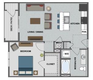 Gates III Floor Plan at The Edison at Bridlespur, Kansas City, 64114