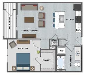 Gates Floor Plan at The Edison at Bridlespur, Kansas City, MO, 64114