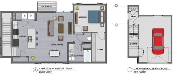 Jefferson Floor Plan at The Edison at Riverwood, Hermitage, 37076
