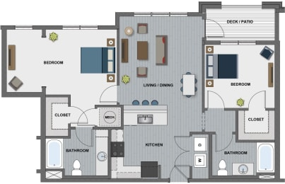 Lamarr Floor Plan at The Edison at Riverwood, Hermitage, 37076