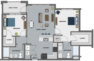 Lang Floor Plan at The Edison at Riverwood, Hermitage, TN
