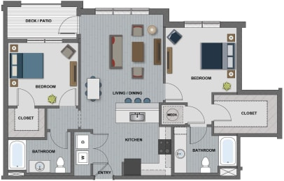 Latimer Floor Plan at The Edison at Riverwood, Hermitage