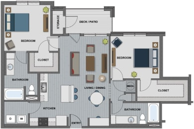 Morgan Floor Plan at The Edison at Riverwood, Hermitage, Tennessee