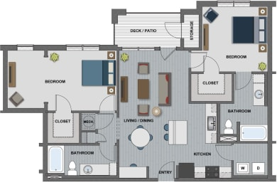 Wakefield Floor Plan at The Edison at Riverwood, Tennessee, 37076