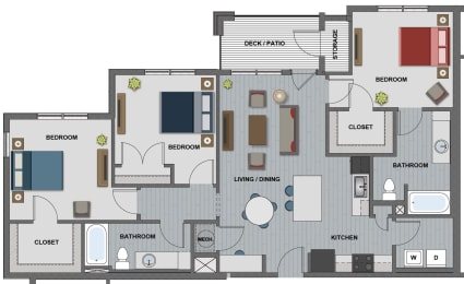 Walker Floor Plan at The Edison at Riverwood, Hermitage, TN