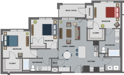 Wright Floor Plan at The Edison at Riverwood, Hermitage, TN, 37076